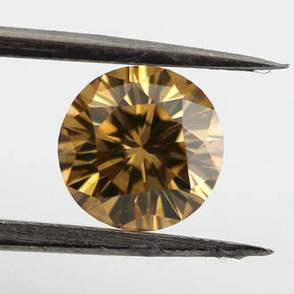 Fancy Brown Yellow Diamond, Round, 0.75 carat, VS2