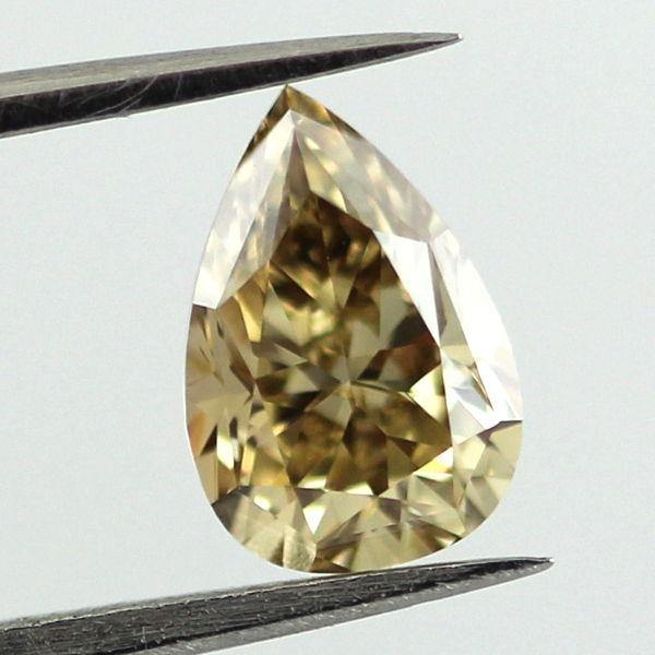 Fancy Brown Yellow Diamond, Pear, 1.16 carat, VS1