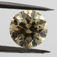 Fancy Brownish Greenish Yellow Diamond, Round, 0.75 carat, VS2 - Thumbnail