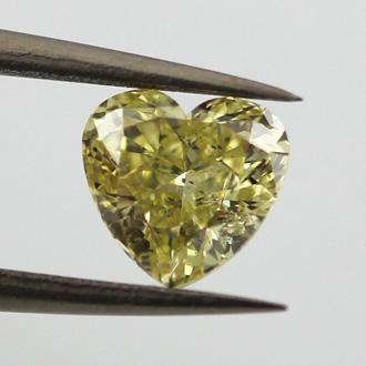 Fancy Brownish Greenish Yellow, 1.14 carat