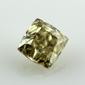 cut brownish ring emerald yellow diamond carat fancy engagement