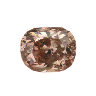 Fancy Brownish Orangy Pink Diamond, Cushion, 0.71 carat