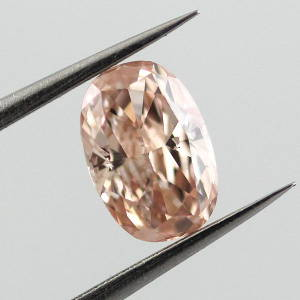 Fancy Brownish Orangy pink, 0.51 carat, I1