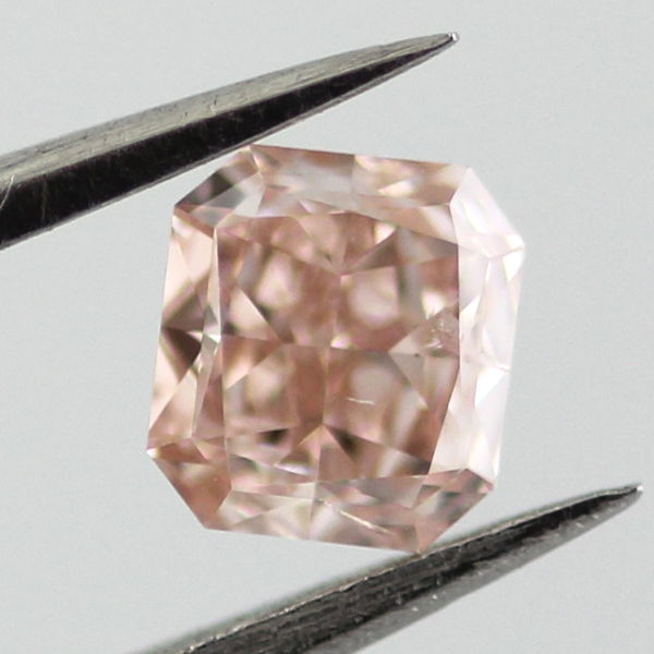 Fancy Brownish Pink Diamond, Radiant, 0.26 carat
