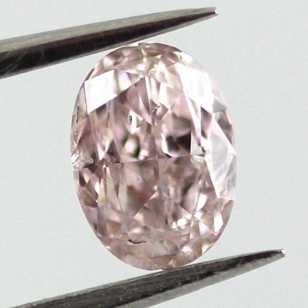 Fancy Brownish Pink Diamond, Oval, 0.37 carat, SI2