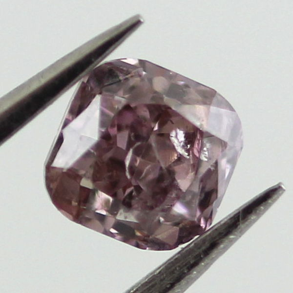 Fancy Brownish Purple Pink Diamond, Cushion, 0.35 carat