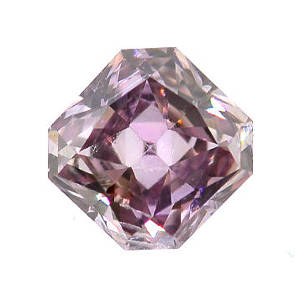 GIA Radiant Fancy Brownish Purplish Pink Diamond, 0.13 carat