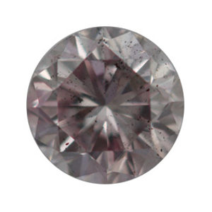 Fancy Brownish Purplish Pink Diamond, Round, 0.33 carat