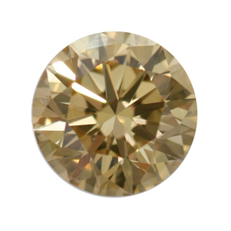 Fancy Brownish Yellow Diamond, Round, 0.59 carat, SI1