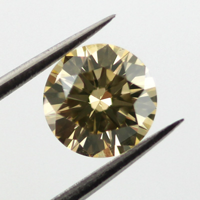 Fancy Brownish Yellow Diamond, Round, 0.82 carat, SI1