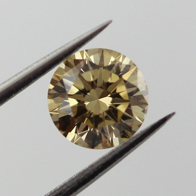 Fancy Brownish Yellow Diamond, Round, 0.70 carat, SI1