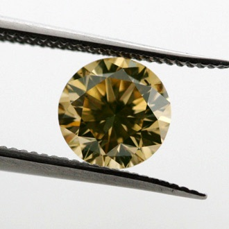 Fancy Brownish Yellow Diamond, Round, 0.72 carat, SI2