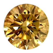 Fancy Brownish Yellow Diamond, Round, 0.59 carat, VVS2