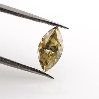 Fancy Brownish Yellow, 0.52 carat
