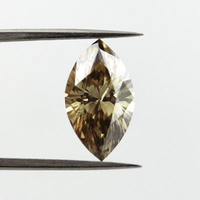 Fancy Dark Brown Greenish Yellow Diamond, Marquise, 2.03 carat- C