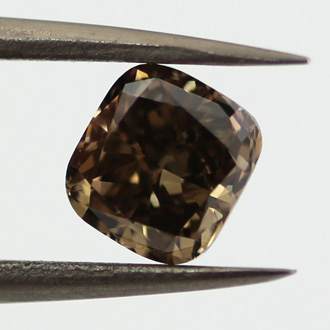 Fancy Dark Brown Diamond, Cushion, 1.01 carat, SI1 - C