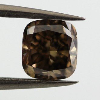 Fancy Dark Brown Diamond, Cushion, 1.01 carat, SI1