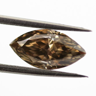 Fancy Dark Brown Diamond, Marquise, 1.29 carat, VS2 - B