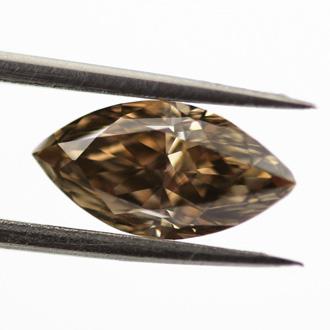 Fancy Dark Brown Diamond, Marquise, 1.29 carat, VS2 - B
