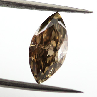 Fancy Dark Brown Diamond, Marquise, 1.29 carat, VS2- C