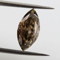 Fancy Dark Brown Diamond, Marquise, 1.29 carat, VS2 - Thumbnail