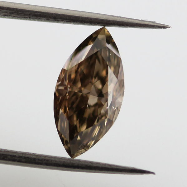 Fancy Dark Brown Diamond, Marquise, 1.29 carat, VS2
