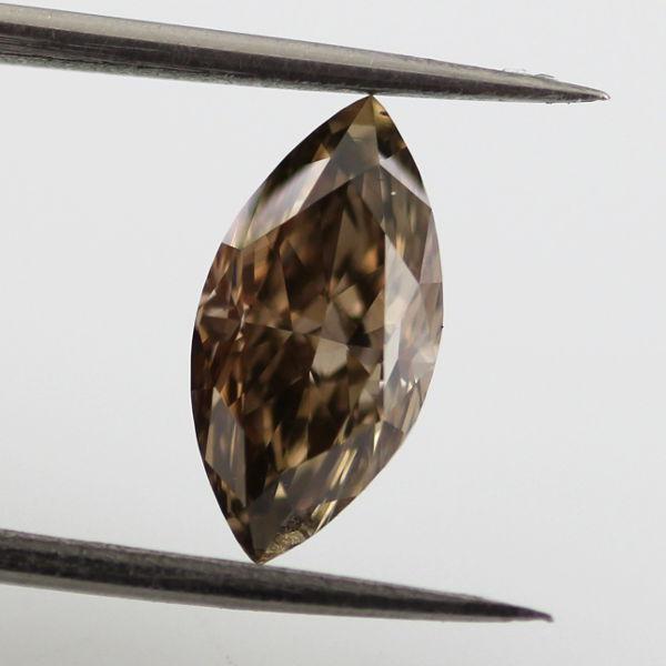 Fancy Dark Brown Diamond, Marquise, 1.29 carat, VS2