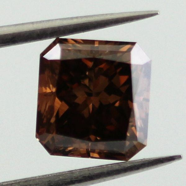 Fancy Dark Brown Diamond, Radiant, 1.08 carat, VS2 - B