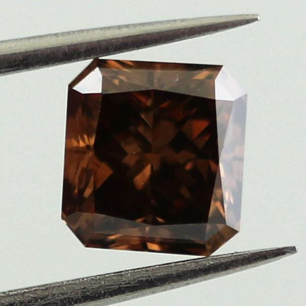 Fancy Dark Brown Diamond, Radiant, 1.08 carat, VS2 - C
