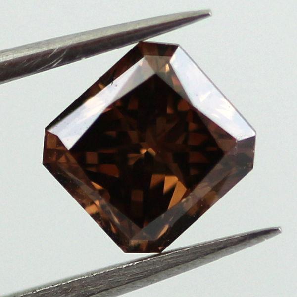 Fancy Dark Brown Diamond, Radiant, 1.08 carat, VS2