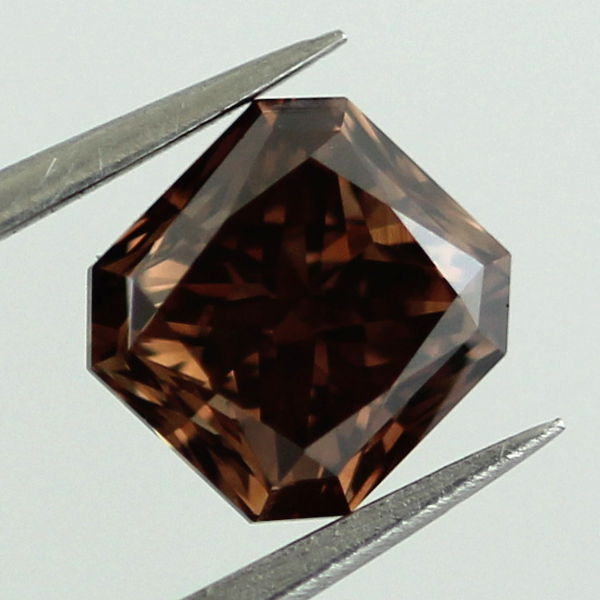 Fancy Dark Brown Diamond, Radiant, 1.18 carat, VVS2 - B