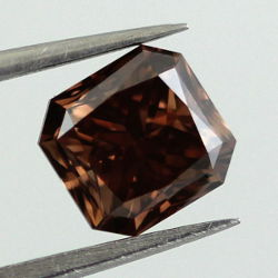 Fancy Dark Brown Diamond, Radiant, 1.18 carat, VVS2 - Thumbnail