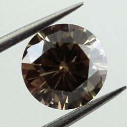 Fancy Dark Brown, 0.87 carat, I1
