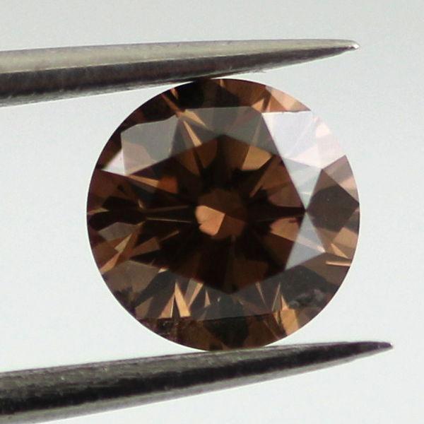 Fancy Dark Brown Diamond, Round, 0.52 carat, SI2 - B