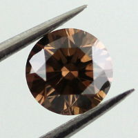 Fancy Dark Brown Diamond, Round, 0.52 carat, SI2 - Thumbnail