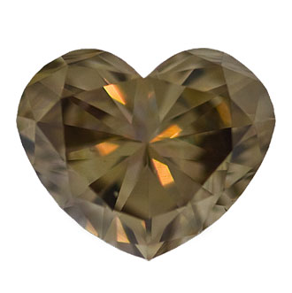 Fancy Dark Brown Diamond, Heart, 0.68 carat, VS1