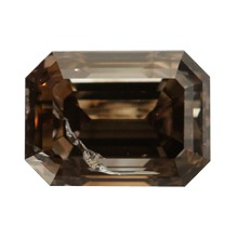 Fancy Dark Brown Diamond, Emerald, 1.01 carat - B