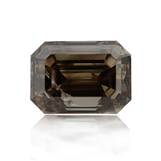 Fancy Dark Brown Diamond, Emerald, 1.01 carat