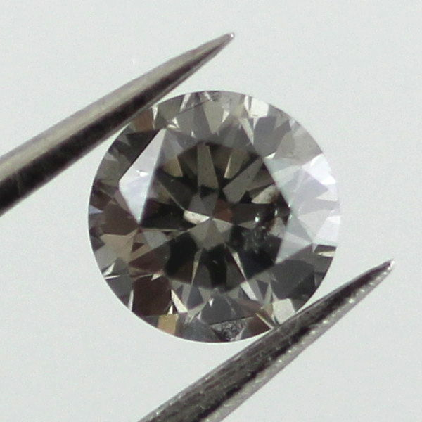 Fancy Dark Gray Diamond, Round, 0.35 carat