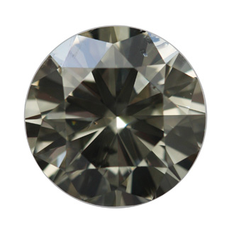 Fancy Dark Greenish Gray, 5.01 carat