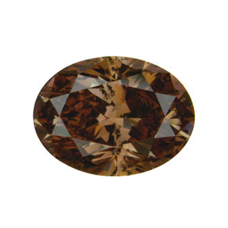 Fancy Dark Orange Brown Diamond, Oval, 1.12 carat