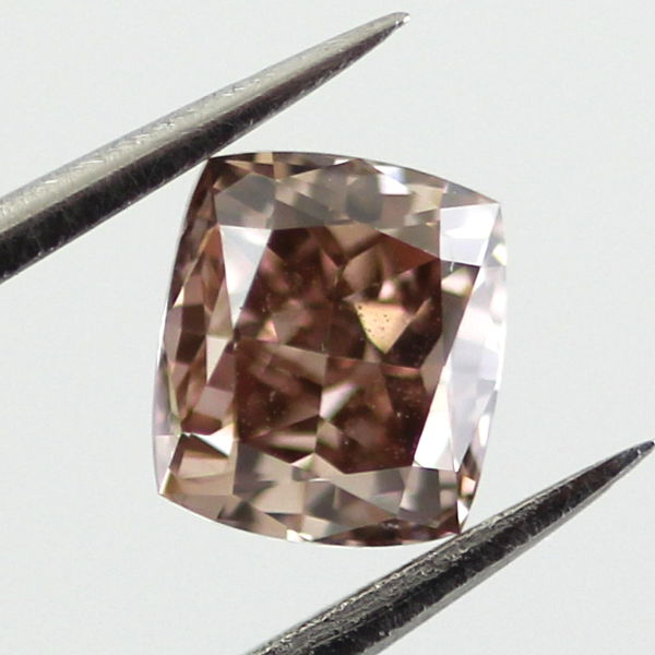 Fancy Dark Orange Brown Diamond, Cushion, 0.67 carat - B