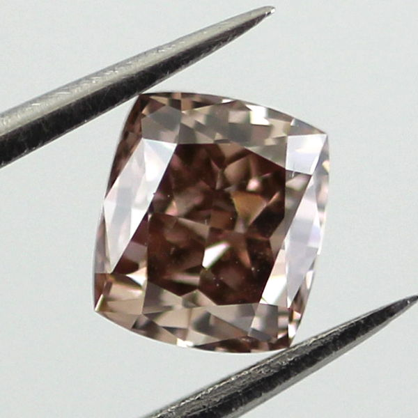 Fancy Dark Orange Brown Diamond, Cushion, 0.67 carat - C