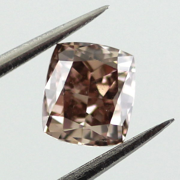 Fancy Dark Orange Brown Diamond, Cushion, 0.67 carat