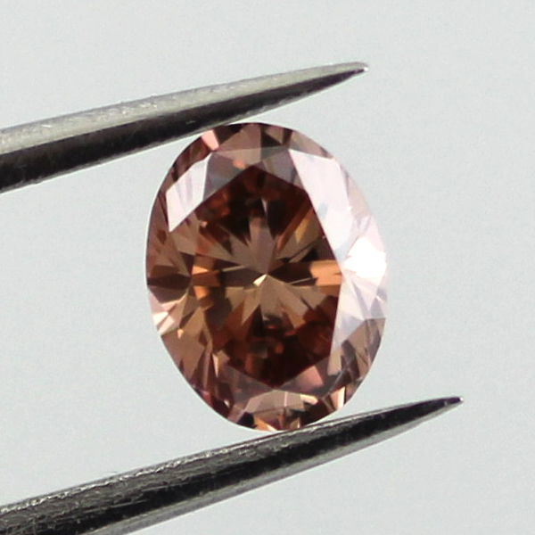 Fancy Dark Orange Brown Diamond, Oval, 0.29 carat, VS1 - B