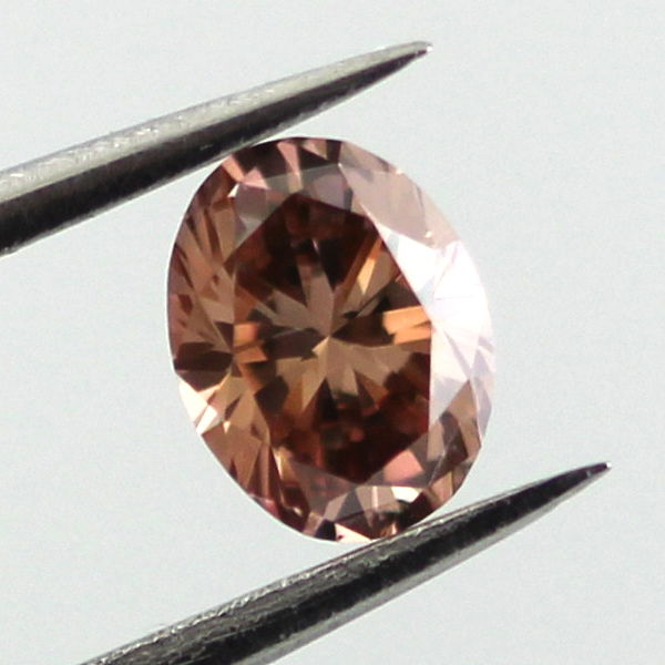 Fancy Dark Orange Brown Diamond, Oval, 0.29 carat, VS1- C