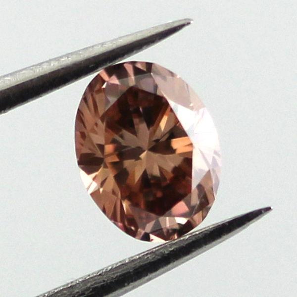 Fancy Dark Orange Brown Diamond, Oval, 0.29 carat, VS1 - C