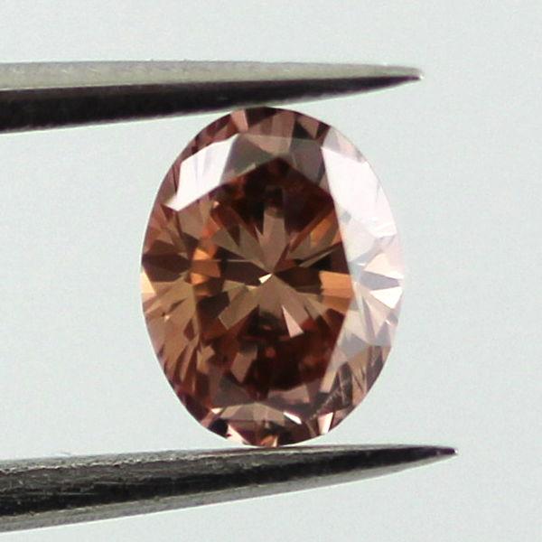 Fancy Dark Orange Brown Diamond, Oval, 0.29 carat, VS1