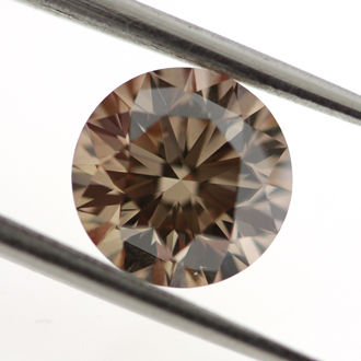 Fancy Dark Orange Brown Diamond, Round, 1.23 carat, VS2