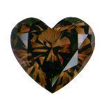 Fancy Dark Orangy Brown, 1.55 carat